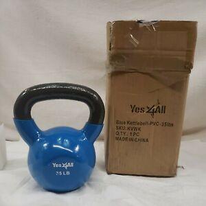 Blue Kettlebell-PVC-35 lbs SKU:KVK