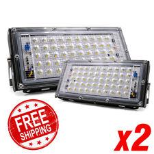 2pcs LED Flood Light 50W 220V Floodlight streetIP65 Waterproof Outdoor Wall