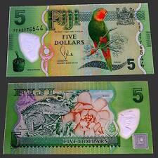 Fiji 5 Dollars 2012 Unc.Pick:115a (polymer) #