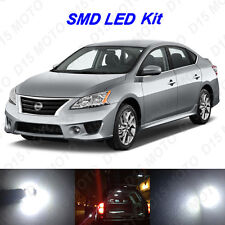 6 x White LED Interior Bulbs + License Plate Lights for 2013-2016 Nissan Sentra