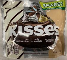NEW HERSHEY'S KISSES HUGS MILK CHOCOLATE WHITE CREME ALMOND SHARE PACK 10 OZBAG