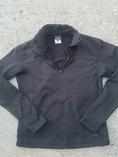 Patagonia Capilene Womens Top Small 1/4 Zip Shirt Black Long Sleeve Base Layer