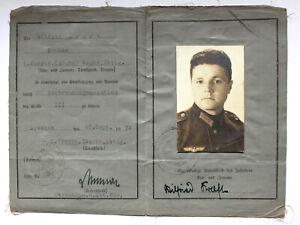 Militärführerschein Reichswehr von 1934 ( aus bedrucktem Leinengewebe)