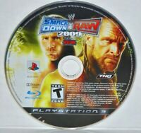 WWE SmackDown vs. Raw 2009 Featuring ECW (Sony PlayStation 3, 2008) WWF PS3 Game