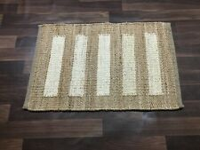 Hand loom Hemp Jute Runner Rugs Handmade Jute Kilim Decorative Yoga mat 2x3-4