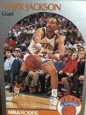MARK JACKSON - 1990 NBA HOOPS CARD #205 with KYLE & ERIC MELENDEZ IN BACKGROUND