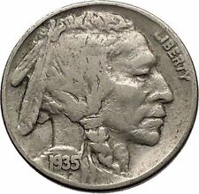 1935 BUFFALO NICKEL 5 Cents of United States of America USA Antique Coin i43768