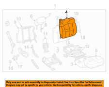 GM OEM Front Seat-Cushion Cover-Top Back Right 88936771
