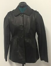 Women's Genuine Leather Jacket. Size 10 Black. Excellent Condition