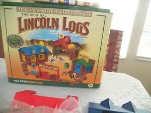 Lincoln Logs HUGE Lot 20 lb Pieces Roofs People Animals TONS of Different Pieces