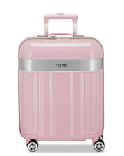 Titan Koffer Spotlight 4 Rollen Trolley 55 cm S WILD Rose Rosa Flash GNTM