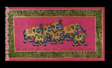 Hanging Wall Painting Mughal on Silk Art Elephant India 15 3/8x7 7/8in C13