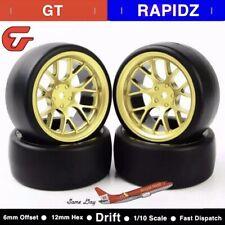 4pcs RC Car Tyres Wheel Hub Rim For HSP HPI RC 1/10 1:10 Drift Wheels 6mm Offset