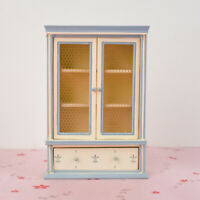 12th Dolls House Miniature Wooden Cabinet with Drawer Life Scenes Ornaments