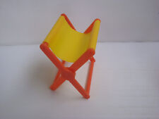 Accessoire big jim Karl May Mattel : fauteuil camping jaune orange - ref 296