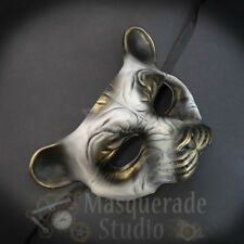 Leopard Animal Spirit Wall Decoration Halloween Masquerade Mask [White/Gold]