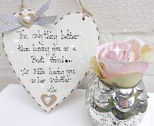 Godmother Christening Plaque Birthday Best Friend Hanging Heart Plaque Sign