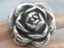 Ring Size 8 Signed Sterling Designer Cfj Rose Shape