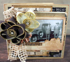 PRIMA Make Memories Chipboard Mini Album Kit with New Archivist Paper & Hardware