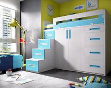Etagenbett Kinder Mit Schrank : Hochbett kleiderschrank in kinder schlafzimmer möbel sets günstig
