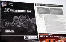HPI Firestorm 10 T Manual Pack E-totalmente Nuevo