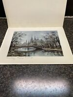 Signed Vintage Maurice Legendre 1972 KRISARTS EDITIONS Lithograph Made In France