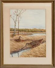 Marsh Birds Watercolour by Jean Herblet from the CZ Guest estate!~