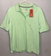 Izod Golf Polo Shirt Ladies Womens NEW Sport Top XL Short Sleeve Green Buttons