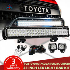 "144W 23INCH Bumper Led Light Bar For TOYOTA Tacoma + 4"" Work Lights + Wiring Kit"