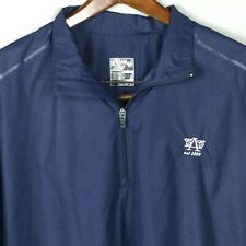 Men's Callaway Golf Short Sleeve Pullover Wind Rain Jacket Navy Blue L Austin CC