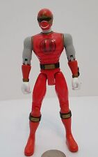 "Power Rangers Ninja Storm 5 1/2"" Inch Red Ranger Figure Bandai 2002 Lights Up !!"