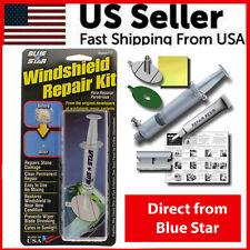 Blue Star DIY Windshield GLASS Repair KIT Stone Damage Chip Model # 777 .80ML