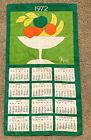 Vintage linen cloth calendar 1972 Vera Neumann