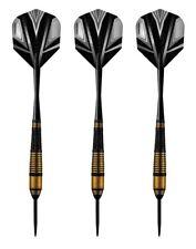 Harrows Vivid High Grade Tinted Alloy Steel Tip Darts – 25 Grams - Black