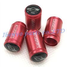 Aluminum Red Matting Car Wheel Tyre Tire Stem Air Valve Cap For Mini Cooper
