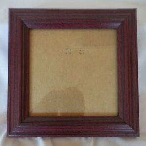 "5"" x 5"" Mahogany Covered Solid Wood Frame w/Glass"