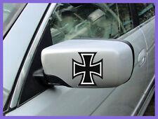 2x IRON CROSS German Maltese Motorcycle TV Motorbike Chopper Car Decal Stickers