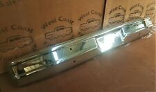 81-86 FORD F100 F250 F350 BRONCO PARTS FRONT CHROME BAR  NO HOLES 4 RUBBER STRIP