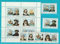 Bulgaria De 1990 Postfrisch Minr. 3814-3819 + Lámina Pequeña Motivo Navegante