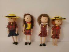 Vintage Eden Toys Madeline Dolls 1998, Set of 4 - Madeline and friends