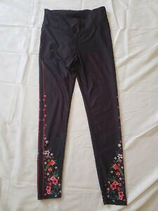 Kyodan Womens Size Medium Legging Flowers
