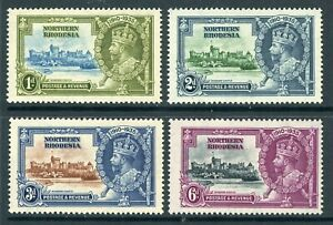 British 1935 KGV Silver Jubilee Northern Rhodesia Sc #18-21 Mint Non Hinged Y108