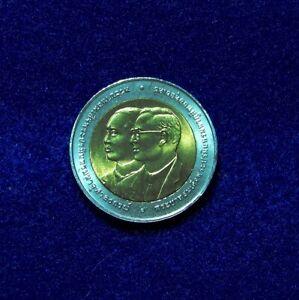 2007 Thailand 10 Baht Bimetal #43 ,Y-426, 100th Anniv 1st Bank of Siam UNC#5