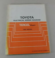 Workshop Manual Toyota Tercel Wagon Electrical Wiring Diagram For The 1987 Model