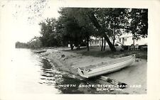 A View of the North Shore Resort, Dead Lake, Dent MN RPPC 1969