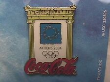 OLYMPIC PIN TRADING COLLECTIONS: ATHENS 2004 COCA-COLA AND GREEK COLUMNS