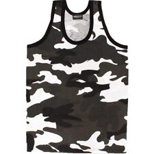 ARMY CAMOUFLAGE VEST TOP MENS S-3XL SLEEVELESS T-SHIRT 100% COTTON DPM URBAN