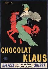 AD19 Vintage 1903 Chocolat Klaus Swiss Chocolate Advertisement Poster A4