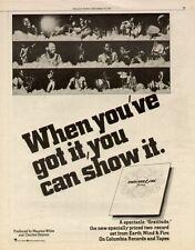 """1975 EARTH, WIND, & FIRE """"GRATITUDE""""  ALBUM PROMO AD"""