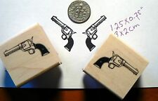 2 miniature guns rubber stamp P49C
